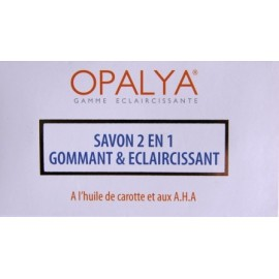 OPALYA Savon 2 en 1 gommant et éclaircissant