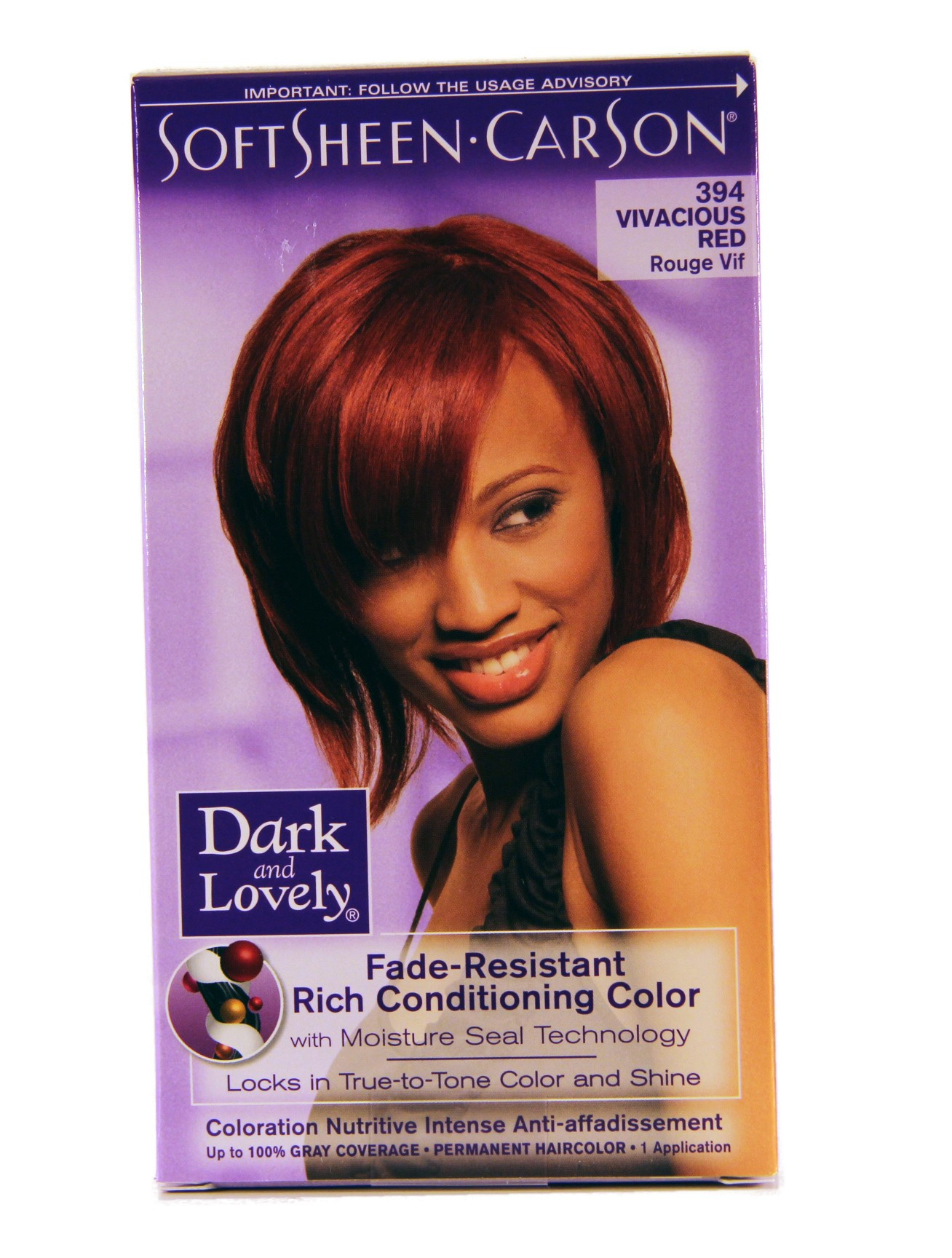 Dark And Lovely Color Vivacious Red 394 Lady Edna