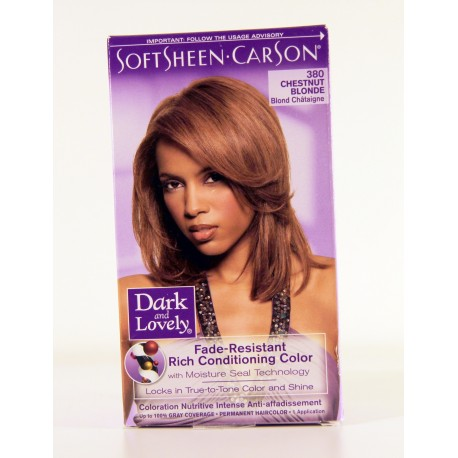 Permanent Haircolor Chestnut Blonde 380  Dark Brown Hairs