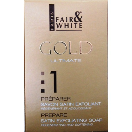 Fair&White Gold Savon satin exfoliant