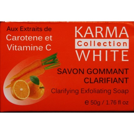Karma White Collection savon gommant clarifiant