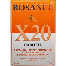 Rosance X20 Carotte exfoliating beauty soap with carrot