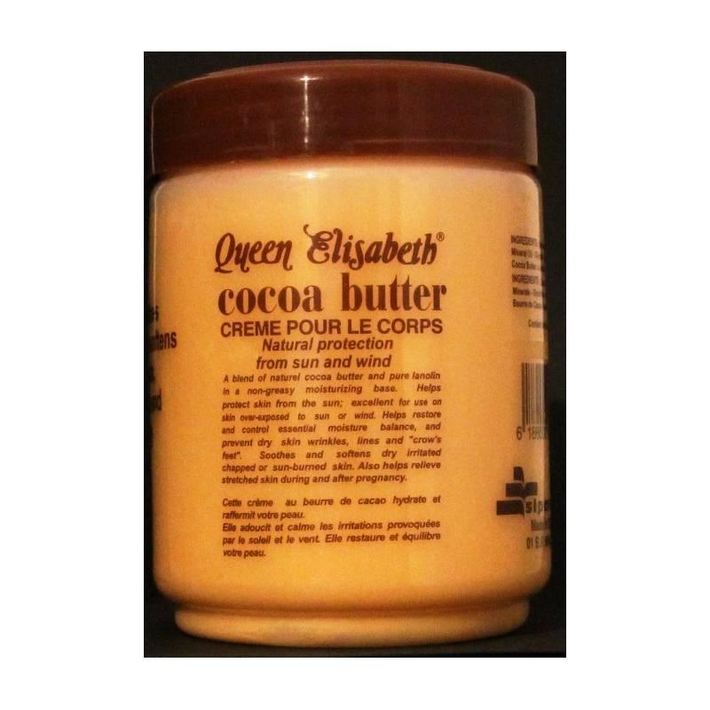 queen elisabeth cocoa butter cr me au beurre de cacao pour les mains et le corps lady edna. Black Bedroom Furniture Sets. Home Design Ideas