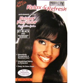 Profectiv Relax & Refresh relaxer plus color Jet Black 43