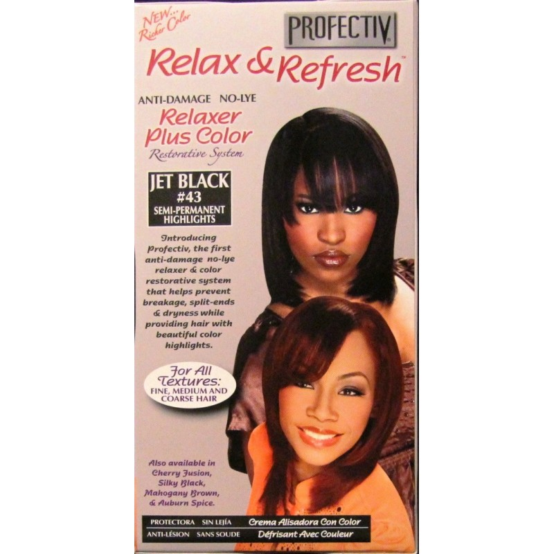 Profectiv Relax Refresh Relaxer Plus Color Jet Black 43 Lady Edna