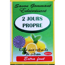 2 jours propre exfoliating and lightening soap - lemon