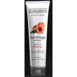 Evoluderm exfoliating face scrub with apricot stones and peach extract
