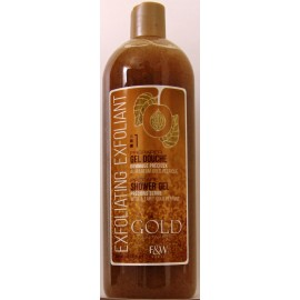 Fair and White Gold shower gel precious scrub