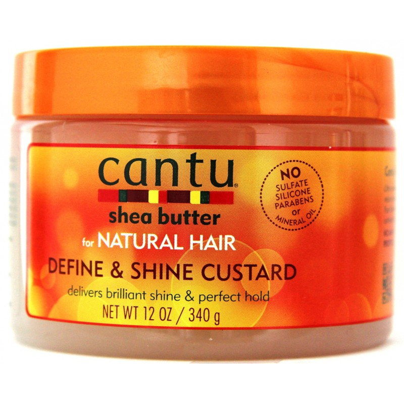 cantu shea butter natural hair define and shine custard gel pour cheveux lady edna. Black Bedroom Furniture Sets. Home Design Ideas