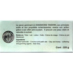 la bamakoise savon tamarin gommant