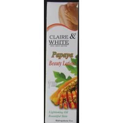 claire & white lait de beauté papaye