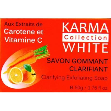 karma collection white savon gommant