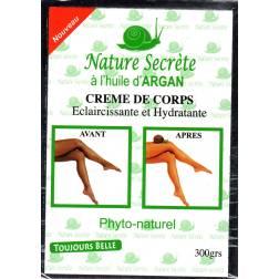Nature Secrète crème de corps éclaircissante et hydratante