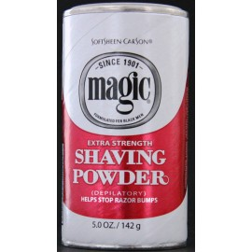 Magic Extra Strength shaving powder (white box)