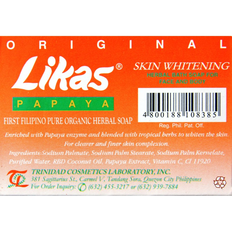 Likas papaya skin whitening herbal soap - grade B - Lady Edna