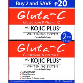 Gluta-C with Kojic plus whitening system face and body soap - savon éclaircissant