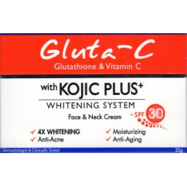 Gluta-C with Kojic Plus Whitening System Face and neck cream - crème visage et cou