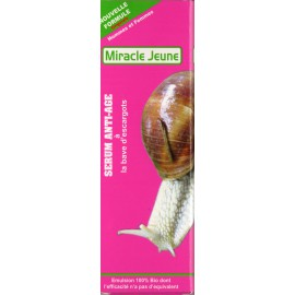 miracle jeune anti-age sérum à la bave d'escargots