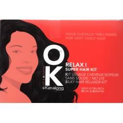 Keralong OK Relax !  défrisant Kit lissage cheveux soyeux
