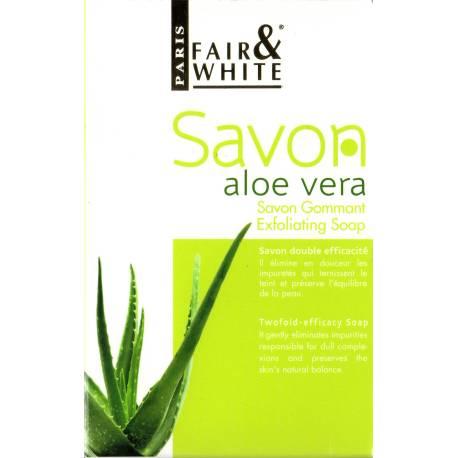 Fair&White savon gommant à l'Aloe Vera