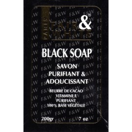 Fair&White Black Soap purifying ans softening soap
