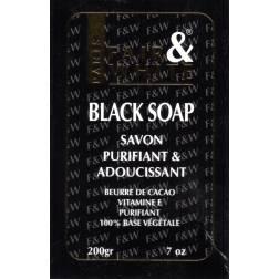 Fair&White Black Soap savon purifiant et adoucissant