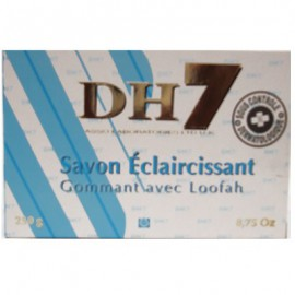 DH7 Bleu lightening exfoliating soap with LOOFAH