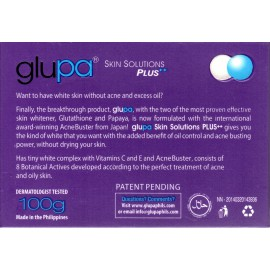 Glupa face and body whitening bar