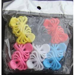 Mini-pinces à cheveux 12 pièces - 6 couleurs