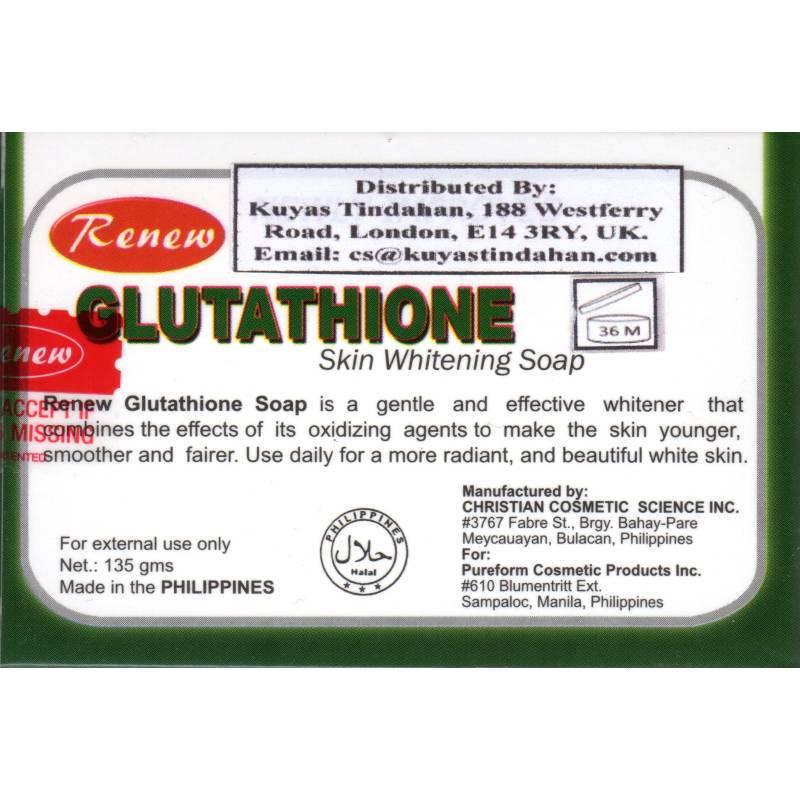Renew Glutathione Skin Whitening Soap - Lady Edna