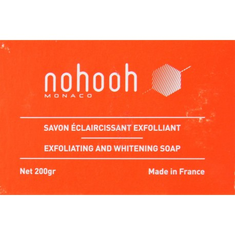 Nohooh Monaco savon éclaircissant exfoliant