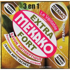 Mekako Extra Strong antiseptic lightening exfoliating lemon soap