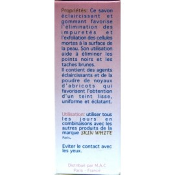 Savon SKIN WHITE éclaircissant gommant antibactérien