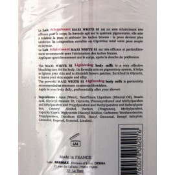 Maxi White S1 Lightening body milk strong formula