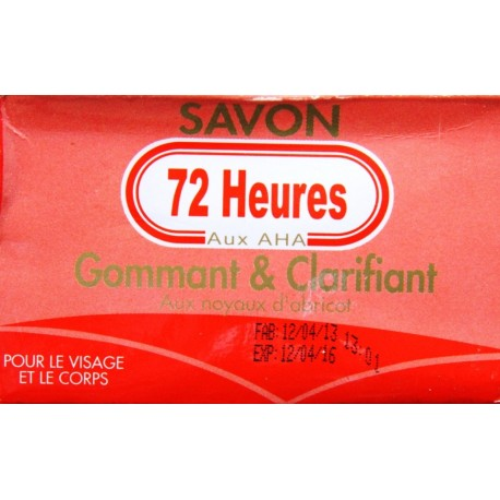 72 heures exfoliating and clarifying soap