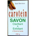 Carotein soap skin toning and exfoliating