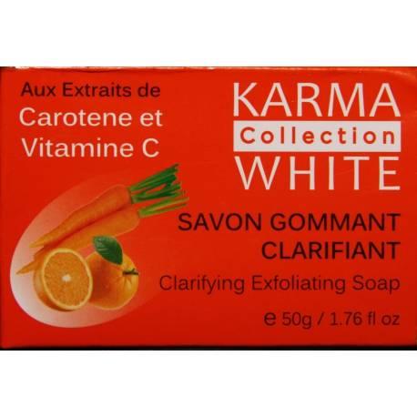 Karma White Collection clarifying exfoliating soap