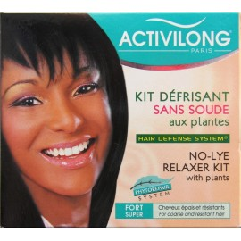Activilong No-lye relaxer kit with plants