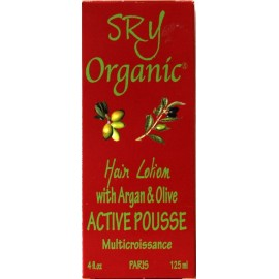 SRY Organic Active Pousse Lotion capillaire à l'argan et l'olive