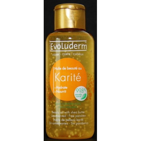 Evoluderm Beauty oil with shea butter