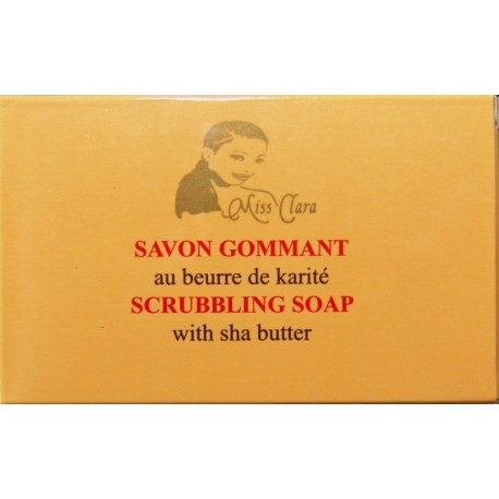 Miss Clara Scrubbling soap