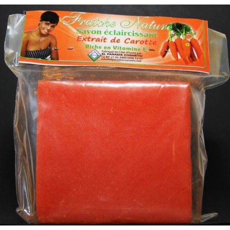 Fraîche Nature lightening Soap Bar with carrot extracts