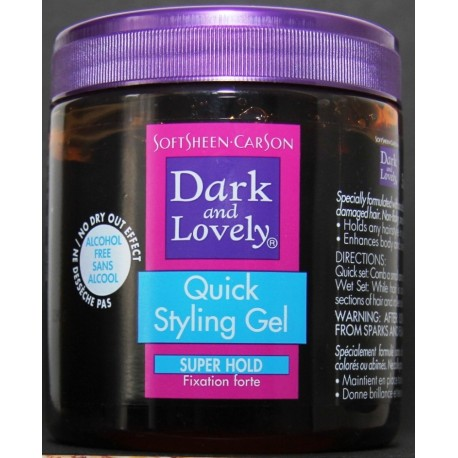 Dark and Lovely quick styling gel - fixation forte