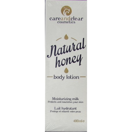 careandclear natural honey body lotion lait hydratant
