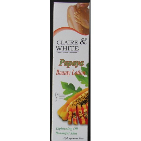 claire & white  papaya beauty lotion
