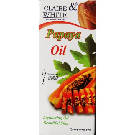 claire & white oil papaya