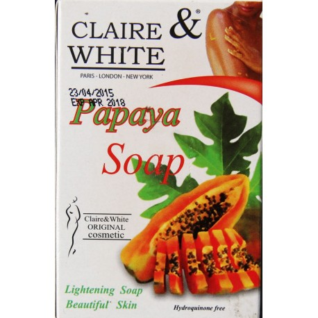 claire & white savon papaye