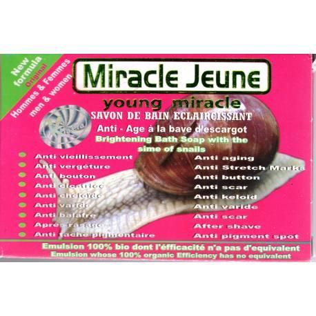 miracle jeune savon de bain eclaircissant anti-age