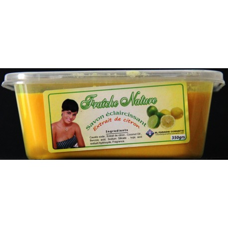 Fraîche Nature lightening soap with lemon extracts