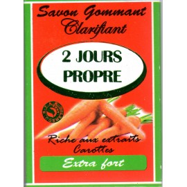 2 jours propre exfoliating and lightening soap - carrot